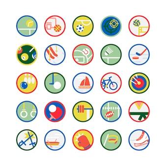 Illustrationssatz sportikonen