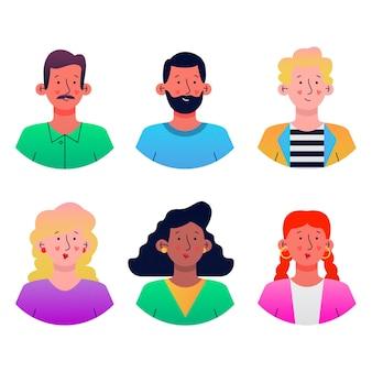 Illustrationssatz von personenavataren