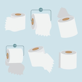 Illustrationsset papierrolle für badezimmer und küchentücher kann verwendet werden, um poster zu machen