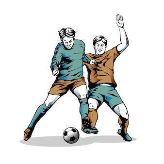 Illustrationsstil der bewegung im fußball