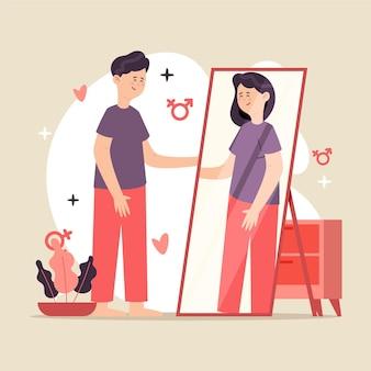 Illustrationsthema der geschlechtsidentität