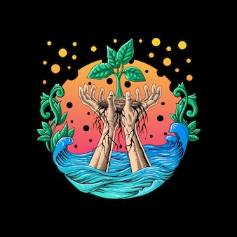 Illustrationsvektor des natürlichen lebens