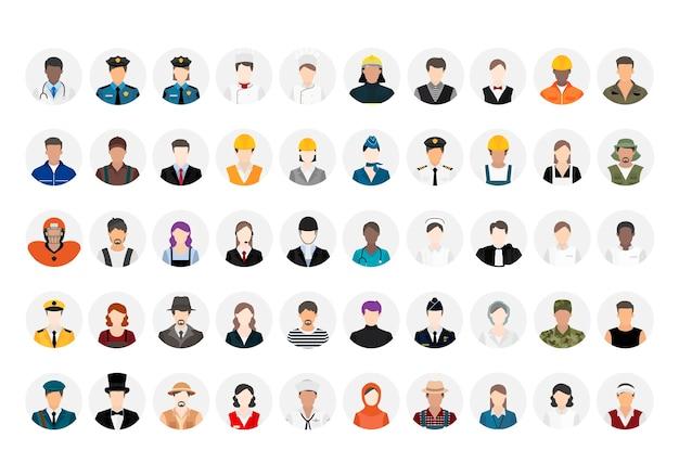 Illustrationsvektor von verschiedenen karrieren und von berufen