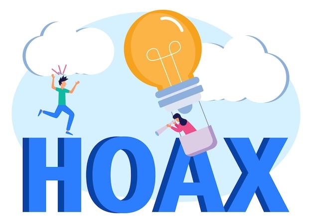 Illustrationsvektorgrafik-cartoon-figur von hoax