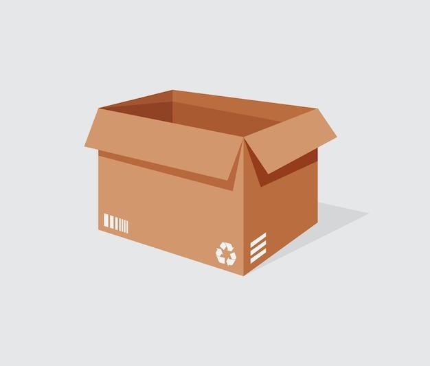 Illustrationsvektorgrafik der lieferbox auf weißem hintergrund perfekt für das symbolgeschäft