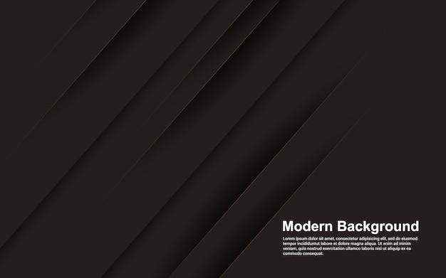 Illustrationsvektorgrafik des abstrakten hintergrunds schwarz mit der braunen linie modern