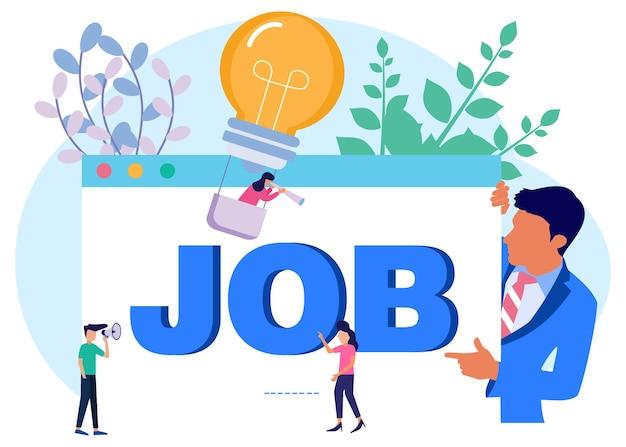 Illustrationsvektorgraphikzeichentrickfilm-figur des jobs
