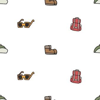 Illustrationszeichnungsart des kampierenden Ikonenhintergrundes