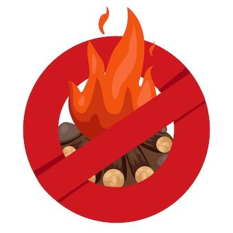 Illustrator der anti-bonfire-sicherheit