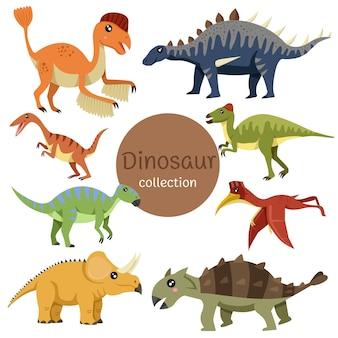 Illustrator der dinosauriersammlung zwei