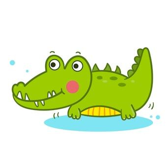 Illustrator der karikatur alligator