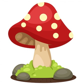 Illustrator der pilzlandschaft