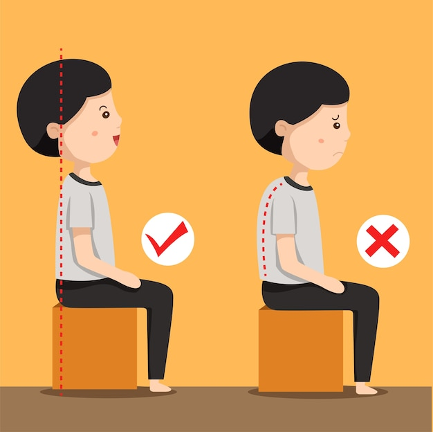 Illustrator der sitzenden position des mannes