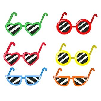 Illustrator der sonnenbrille farbenreich