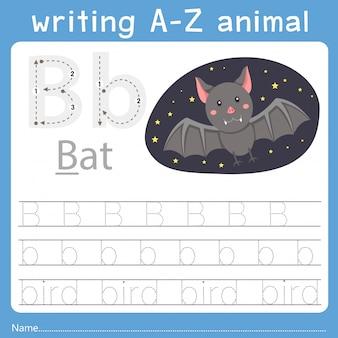 Illustrator des schreibens eines tieres b
