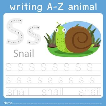 Illustrator des schreibens eines tieres s