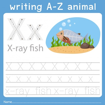 Illustrator des schreibens eines tieres x