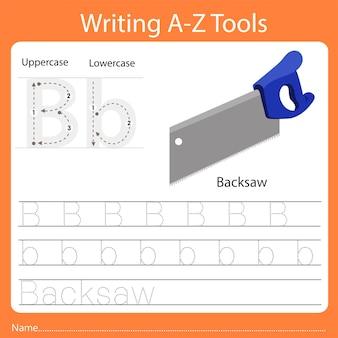 Illustrator des schreibens von az tools b