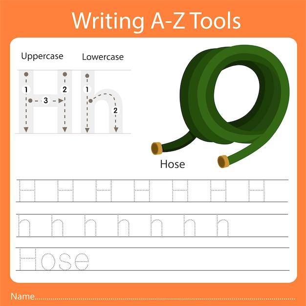 Illustrator des schreibens von az tools h