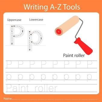 Illustrator des schreibens von az tools p