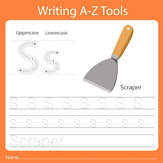Illustrator des schreibens von az tools s