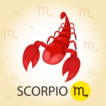 Illustrator des tierkreises mit skorpion