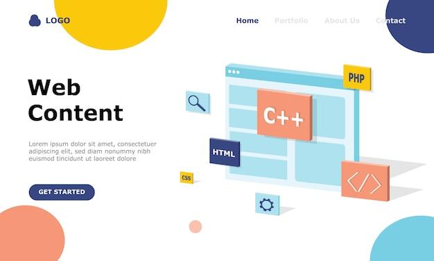 Illustrator-konzept für programmierer und technische entwicklung