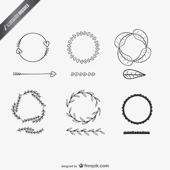 Illustrator pinsel designs Kostenlosen Vektoren