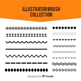 Illustrator-pinselsammlung