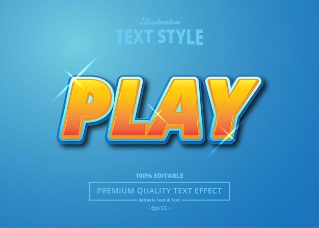 Illustrator-texteffekt spielen
