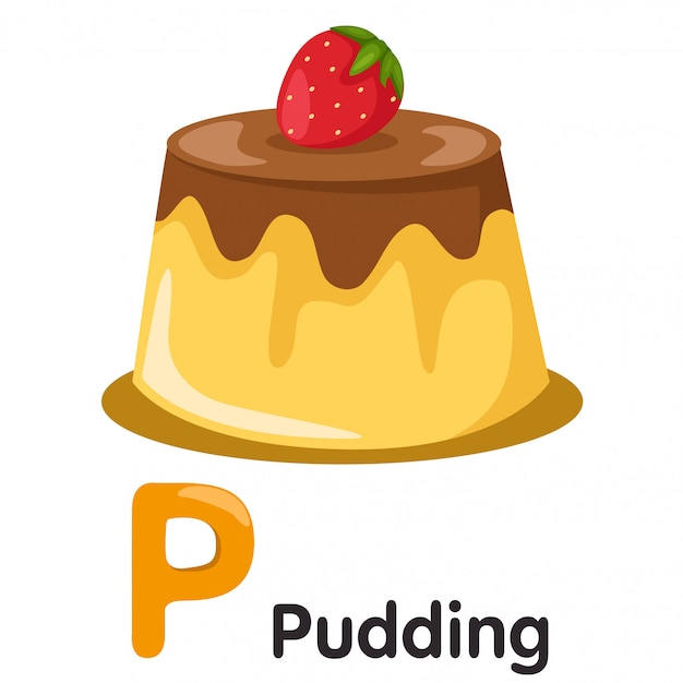 Illustrator von p-schrift mit pudding