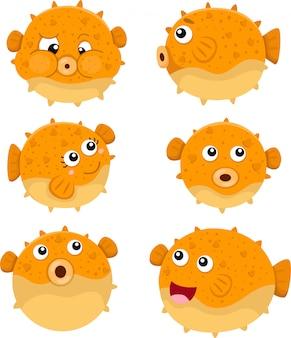 Illustrator von pufferfischen