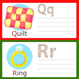 Illustrator von qr-übung für kinder