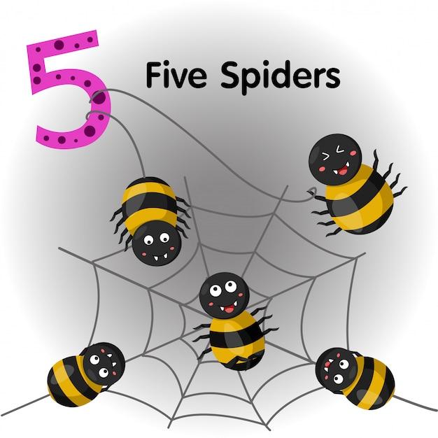 Illustrator von spinnen nummer fünf