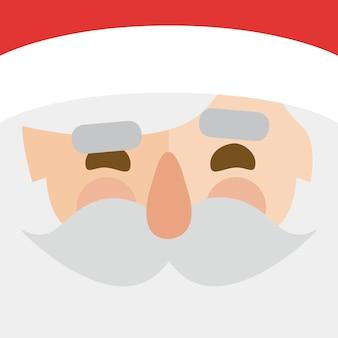 Illustrator von weihnachten. weihnachtsmann-gesicht Premium Vektoren