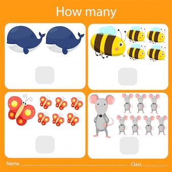 Illustrator wie viele tiere zu zählen