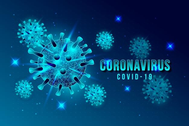 Illustrierte coronavirus-konzepttapete