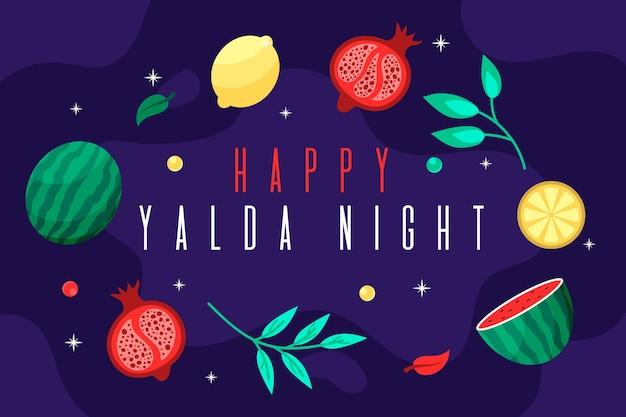 Illustrierte handgezeichnete yalda-elemente