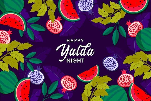 Illustrierte handgezeichnete yalda-tapete
