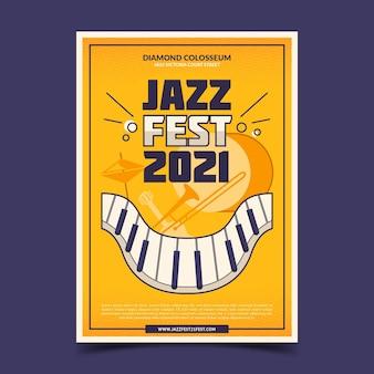 Illustrierte musikfestivalplakatschablone