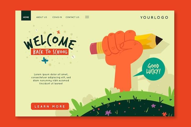 Illustrierte vorlage für die homepage der schule
