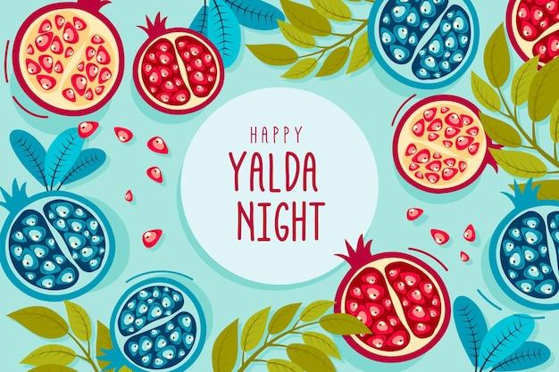Illustrierter handgezeichneter yalda-hintergrund