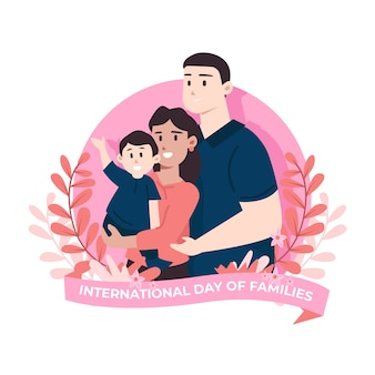 Illustrierter internationaler tag der familien