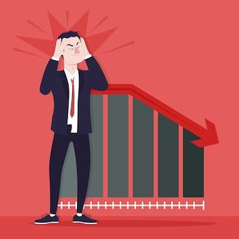 Illustrierter stil der flachen konkursinsolvenz
