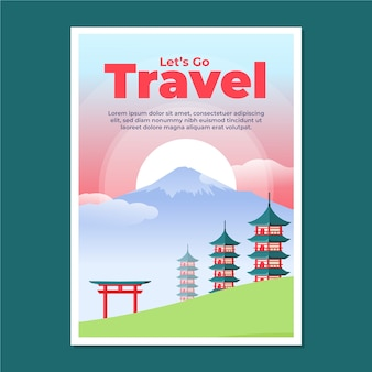 Illustriertes design des reiseplakats