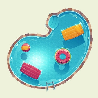 Illustriertes kreativ-schwimmbad