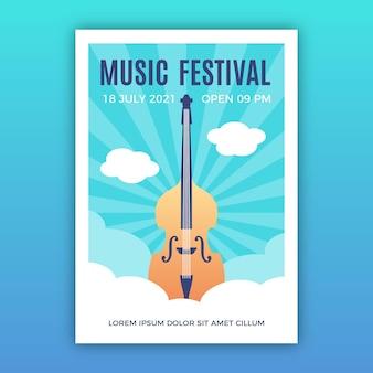 Illustriertes musikereignis im plakat 2021