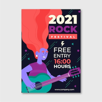 Illustriertes musikfestivalplakat