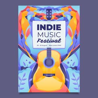 Illustriertes musikplakat
