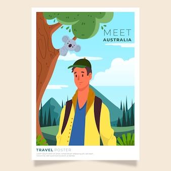 Illustriertes reiseplakat